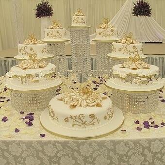 Doprava zdarma 9ks / LOT Svatební Crystal Cake Stand příslušenství strana