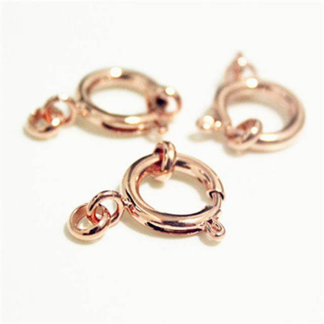 Big Rose Gold Spring Clasps over Brass Anti Tanish5pcs Size 14mm