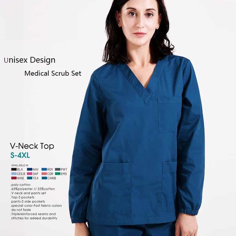 96d5de5ec48 Go shopping for best price Hospital Dental Beauty Salon Woman Man Doctor  Long Sleeve Surgical Uniform Isolation Gown Scrub Set Nurse Medical Suit  Set ZK1.
