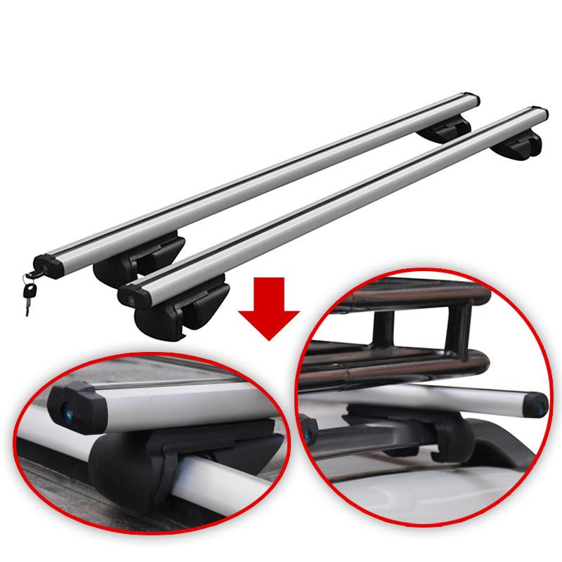 VDP Roof Rack Rails Aluminium Rio 120/Jaguar X-Type Estate Car from 04/to 90kg Lockable