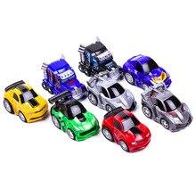 Mini Robot Transformasi Robot model Mobil mobil Klasik anak laki-laki Mainan Hadiah Untuk Anak Mobil model Mobil-styling Action Figure