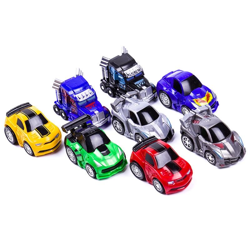 Mini Robot bil Transformation Robots Bilmodell Klassiska pojkar - Toy figuriner - Foto 2