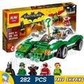 282 шт. Новый Super Heroes Бэтмен Фильм 07059 Riddler Загадка Racer DIY Модель Строительство Комплект Блоки Подарки Игрушки Совместимо с Lego