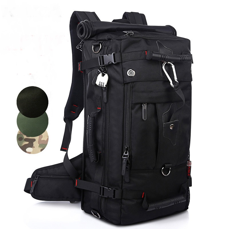 New Men's backpack multi-functional hiking Waterproof Oxford bags High-capacity Hard backpack Travel Shoulder BAG Top Quality