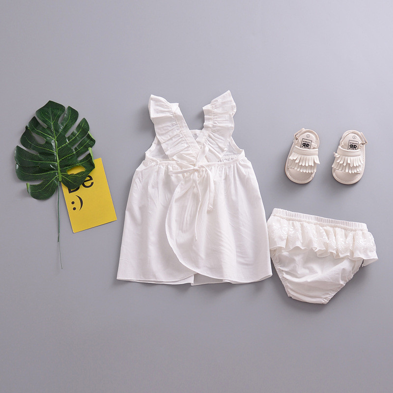 Summer season Ladies Garments Informal temporary Kids Clothes Set Stable Cotton Petal Sleeve Tops+Lace Embroidered Pants 2pcs Outfit Clothes Units, Low-cost Clothes Units, Summer season Ladies Garments Informal temporary...
