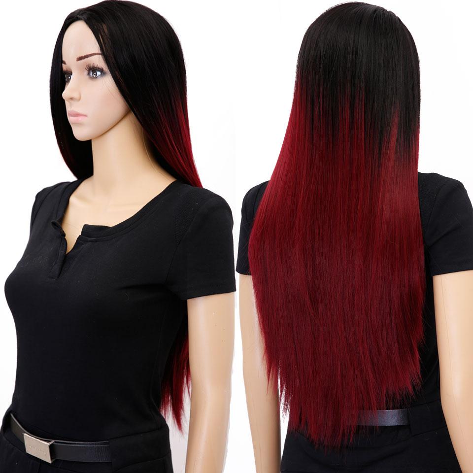 perruque femme rouge pas cher