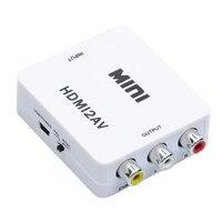 1080 p Hdmi para Av Cvbs 3rca Adaptador Conversor de Áudio de Vídeo Composto suporte pal/ntsc para pc laptop xbox ps3 stb tv vhs vcr DVD