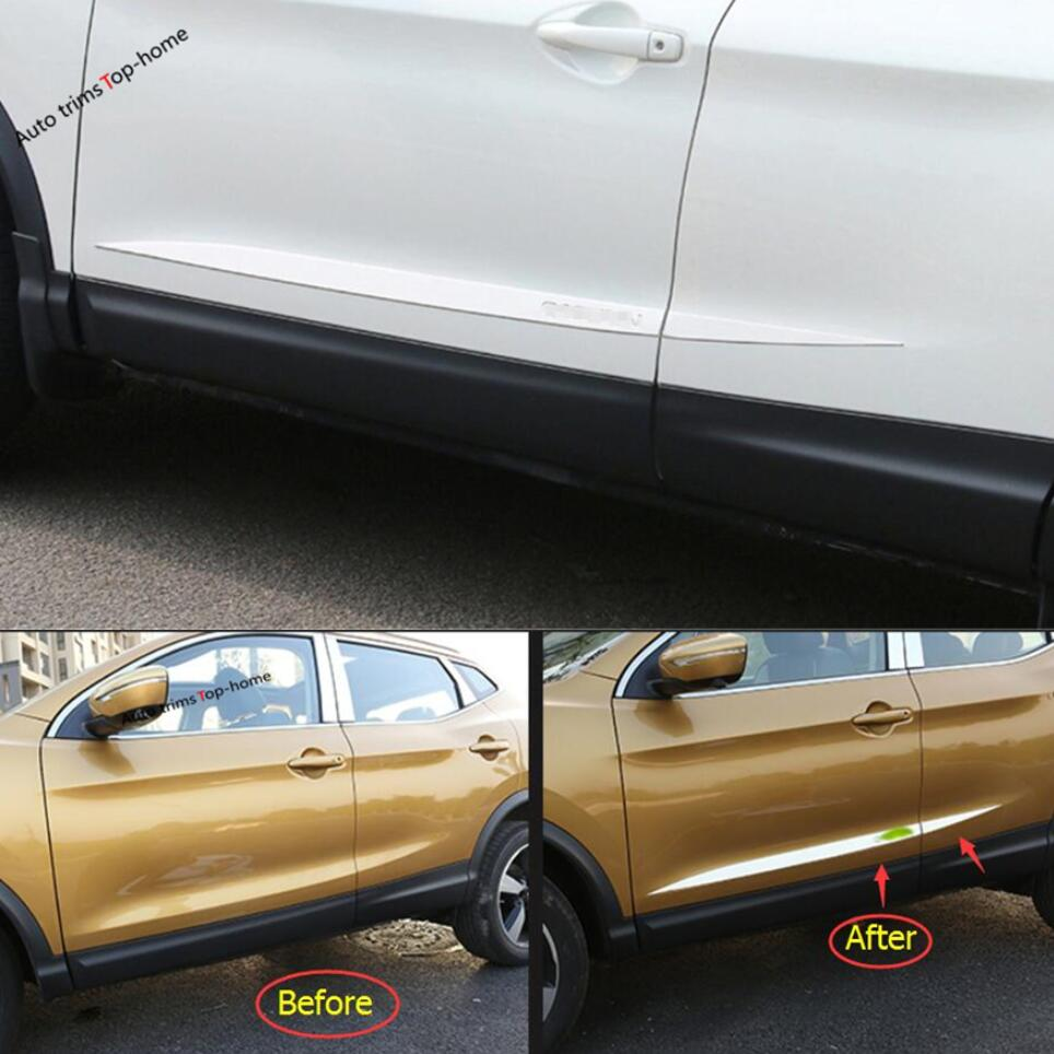 Auto Replacement Parts Accessories Fit For Nissan Qashqai J11 2014-2018chrome Door Side Line Garnish Body Molding Cover Protector Trim Cheap Sales Chromium Styling