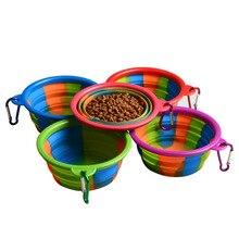 Light Portable Pet Travel Retractable Dog Bowl 350ML
