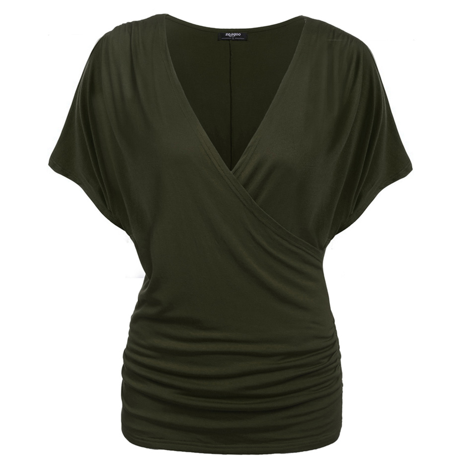 Meaneor-2017-Summer-Fashion-Women-Crossover-Deep-V-Neck-T-Shirts-Female-High-Qua