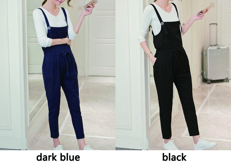 3743eb19f8 M XXL Plus Size Cotton Linen Maternity Pants Overalls for Pregnant Women  Fall Pregnancy Clothes Loose Casual Maternity Jumpsuit-in Pants   Capris  from ...