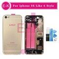 Новый высокое качество Для iphone 5 5g 5S Как 6 6 Г стиль 6 мини Полный Крышку Корпуса Ассамблея с Flex Кабель + Инструменты