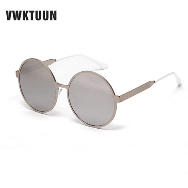 3f850d914c VWKTUUN mujer gafas de sol ronda Sol de cristal para hombres Vintage espejo  gafas de mujer