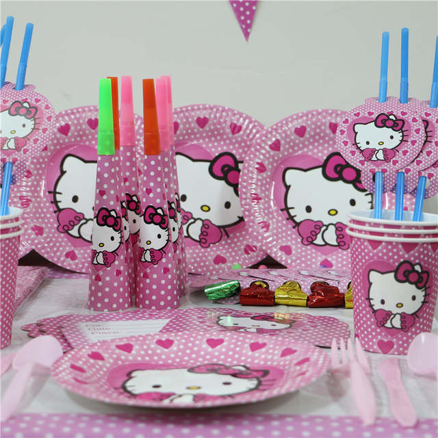 Online Shop 80pcs Lot Kids Birthday Party Decoration Set The First