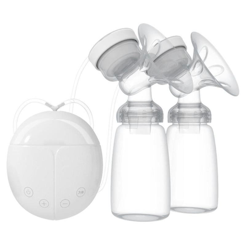 Double USB Electric Breast Pumps with Baby Feeding Milk Bottle Automatic Massage Powerful Nipple Suction Breast Pump BPA Free free shipping breast pump baby milk bottle nipple with sucking function baby product feeding breast pump1pcs xnq09