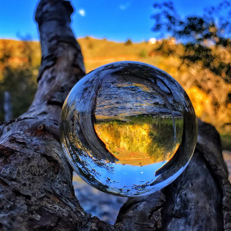 Clear Lens Ball Photography Prop Crystal Ball 80mm K9 Crystal Glass Decor Globe Meditation Healing Magic Feng shui Sphere