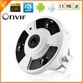 Panorâmica câmera IP 720 P 960 P 1080 P opcional IP câmera olho de peixe grande angular câmera de 5MP 1.7 MM lente CCTV interior ONVIF 3 matriz IR LED