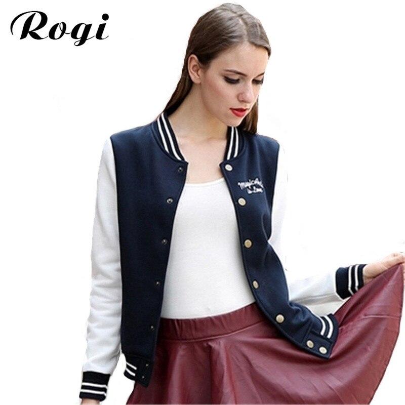 Rogi Bomber Jacket Women Coat 2017 Chaquetas Mujer Casaco Feminino Baseball  Veste Femme Abrigos Y Chaquetas - Online Get Cheap Womens Bomber Jacket -Aliexpress.com Alibaba Group