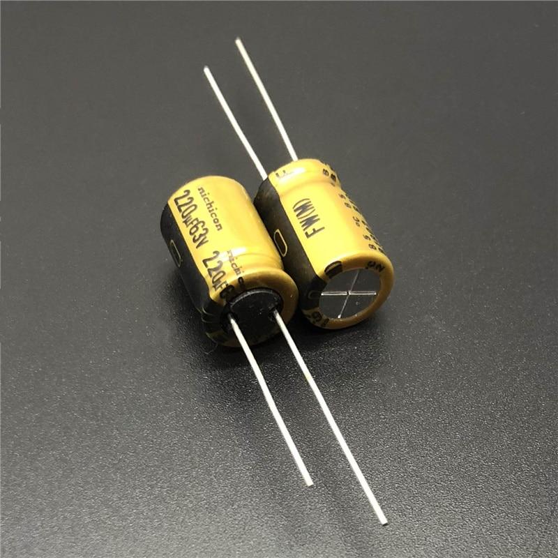 5pcs/20pcs 220uF 63V NICHICON FW Series 10x16mm 63V220uF HiFi Audio Capacitor