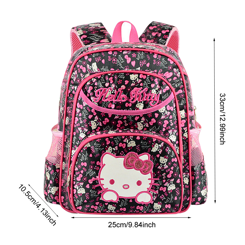 Student Cartoon School Bag Girl s Hello Kitty Backpack Breathable  Decompression Waterproof Oxford Child Knapsack Satchel Product-in School  Bags from Luggage ... d215e5ddf2b95