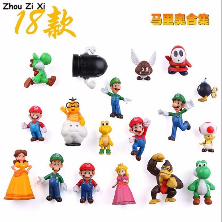 Dessin animé mignon créatif Super Mario réfrigérateur aimant autocollants jouets