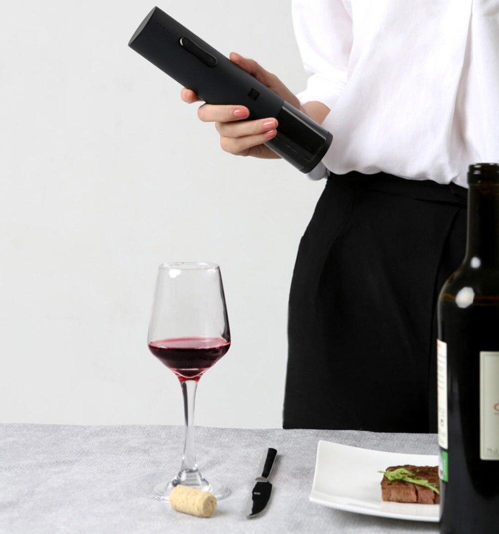 Original xiaomi Mijia Huohou juego de abridor de botellas de vino automático sacacorchos eléctrico con cortador de papel para xiaomi smart home kits - 5