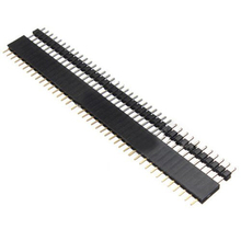 Новый Стиль 5 ШТ. Обновления 40 Pin 2.54 мм Однорядные Прямой Мужской + Женский Контактного Коннектора Газа черный