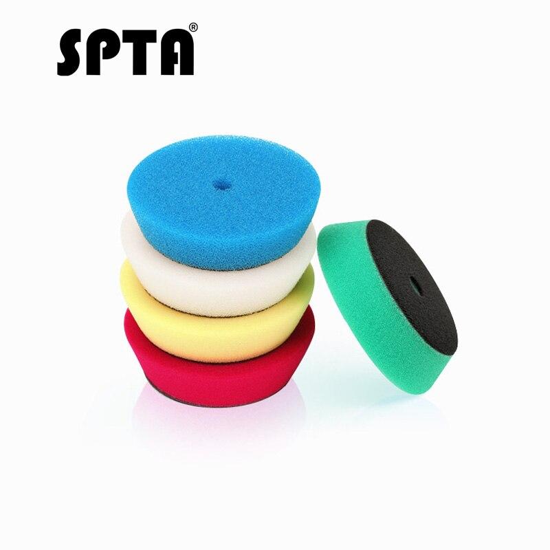 SPTA 5pcs Polishing Buffing Pad 4 100mm Mix Color Kit For 3 inch Backing RO/DA/Air Polisher, Random Orbit Dual Action PolisherSPTA 5pcs Polishing Buffing Pad 4 100mm Mix Color Kit For 3 inch Backing RO/DA/Air Polisher, Random Orbit Dual Action Polisher