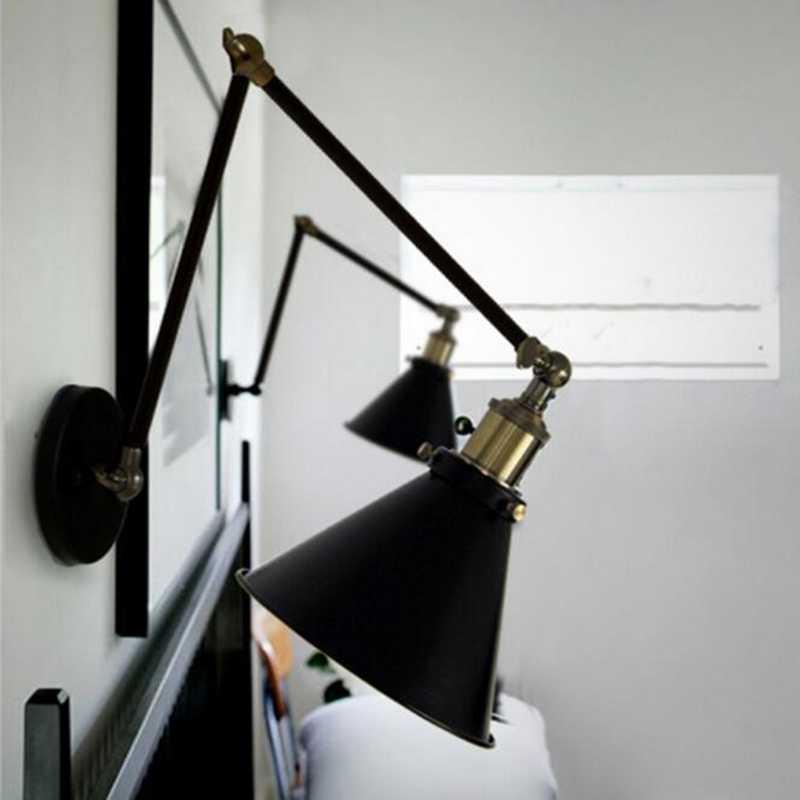 Американский стиль кантри Ретро Настенные светильники бра состаренная сталь готовая применяется в прихожей лестницы балкон офис настенный светильник