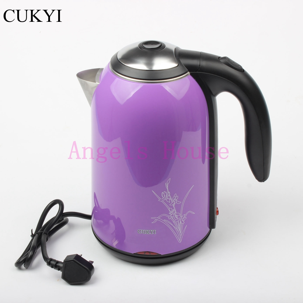 CUKYI 1.7L Electric Stainless Steel Kettle Water Tea Kettle Kitchen Appliances Hot Water Bottle heat insulation cukyi household electric multi function cooker 220v stainless steel colorful stew cook steam machine 5 in 1