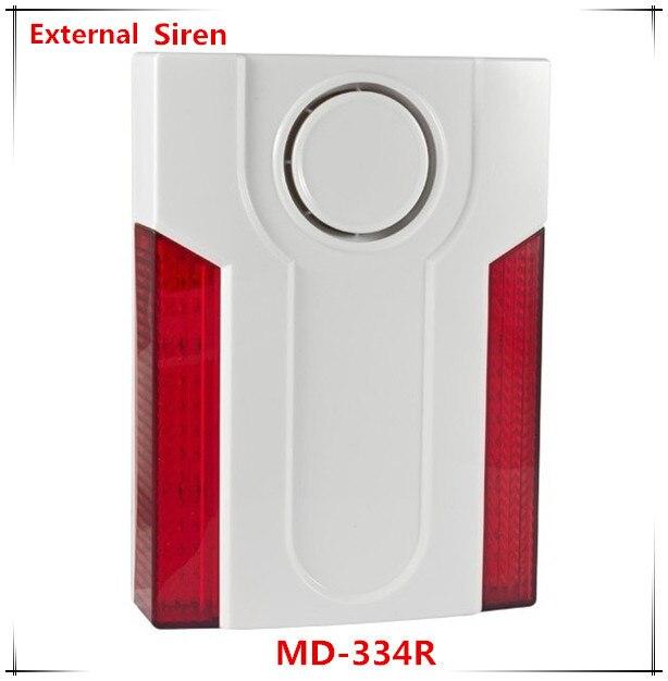 где купить Free Shipping Wireless Outdoor Strobe siren and LED Light Flashing Siren 110dB Big Sounds дешево