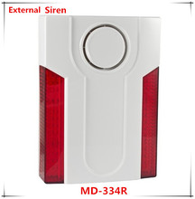 Free Shipping Wireless Outdoor Strobe siren and LED Light Flashing Siren 110dB Big Sounds