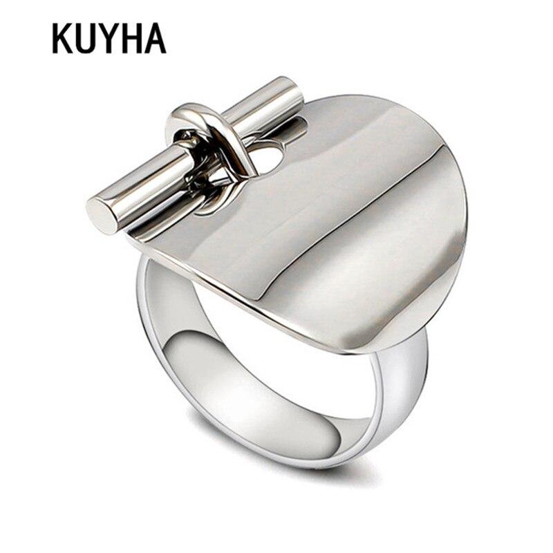 El diseño único con estilo las mujeres anillo de 316L de acero inoxidable registro de nombre/palabra dedo joyería Femme Bague/6/7/ 8/9 tamaño Venta caliente