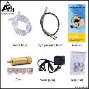 Image 5 - 4500PSI High Pressure AUTO STOP Electric PCP Compressor Reciprocating Air Pump for Pneumatic Airgun Scuba Rifle PCP Inflator