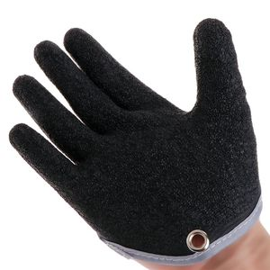 Image 3 - 1PC Non Slip Latex Vissen Handschoenen Met Magneet Release Visser Beschermen Hand Vis Grab Anti Skid Capture Veiligheid Hand handschoenen