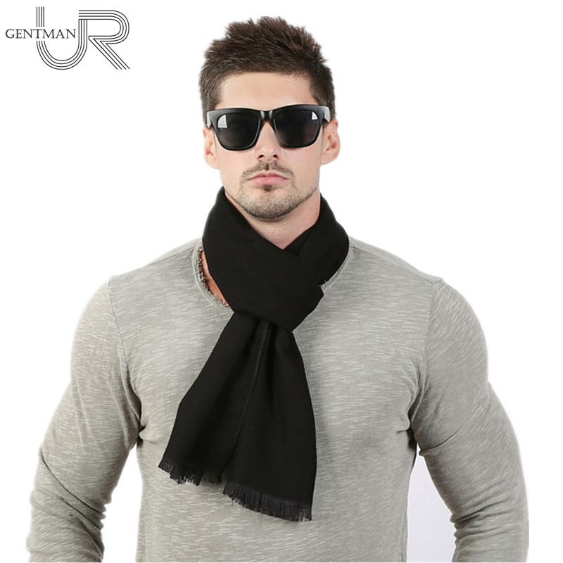Fashion High Quality Solid Men Scarf Winter Autumn Scarfs Cashmere Warm Scarves 33cm*190cm Scarf