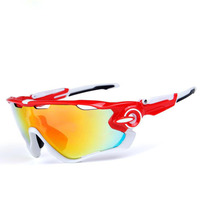 SPEIKE Fashion Outdoors Sports Polarized Sunglasses goggles Women Men 09270 Interchangeable 3 Lens Jaw breaker UV 400