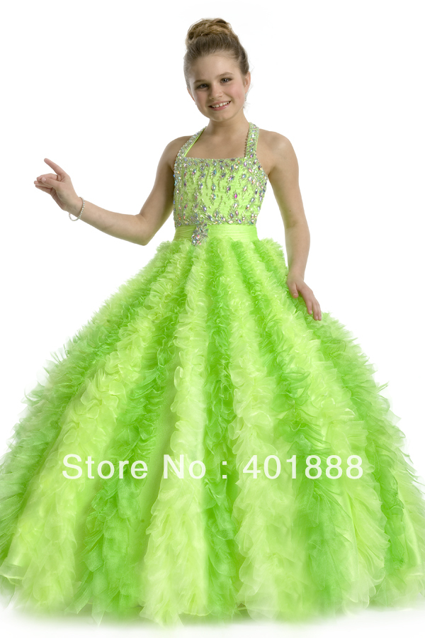 Lime Green Dresses for Girls