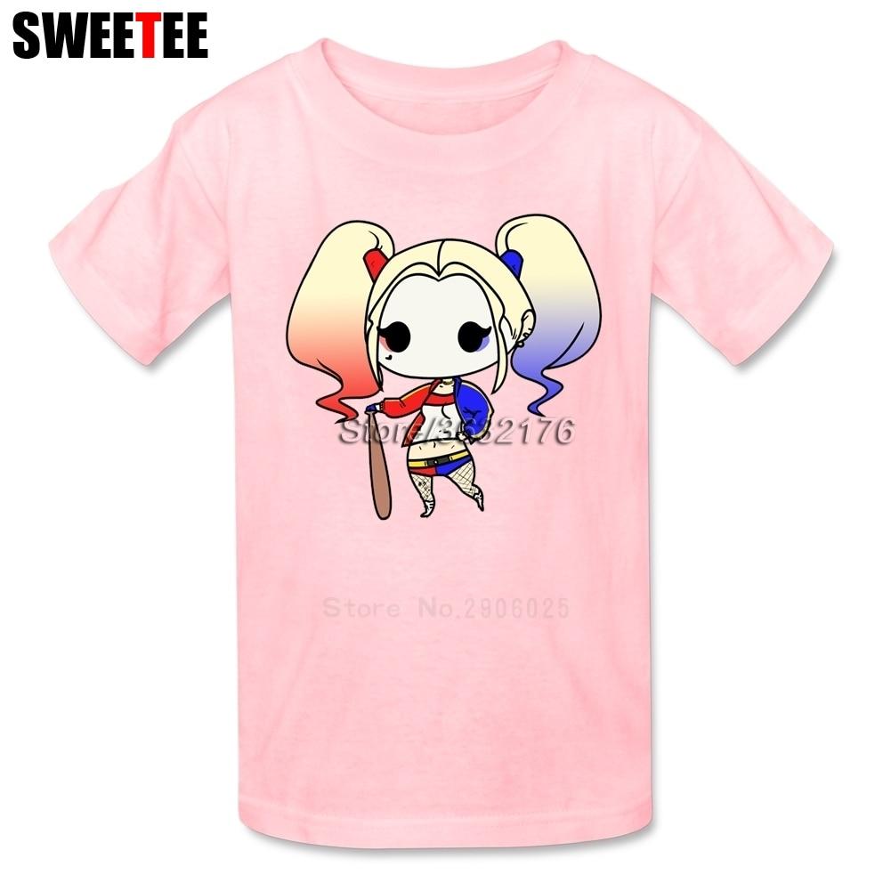 Suicide Squad T Shirt Kid Cotton Toddler Round Neck Baby Tshirt Children Infant Garment 2018 Harley Quinn T-shirt For Boy Girl