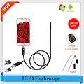 Endoscópio 7mm 2 m/5 m/10 m inspeção endoscópio hd usb endoscopio android carro 2em1 à prova d' água cobra tubo de câmera micro usb endoskope