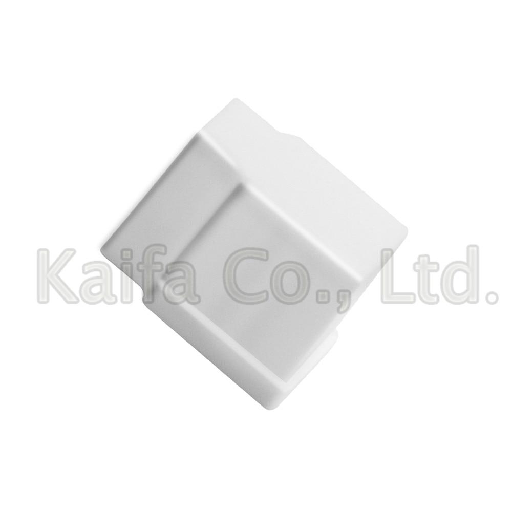 White Plastic Solenoid Valve Waterproof  Cover Water Valve Lid