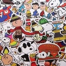 Homegaga 40pcs cartoon dogs Creative badges DIY stickers PC wall notebook phone case Motor scrapbooking album D1847