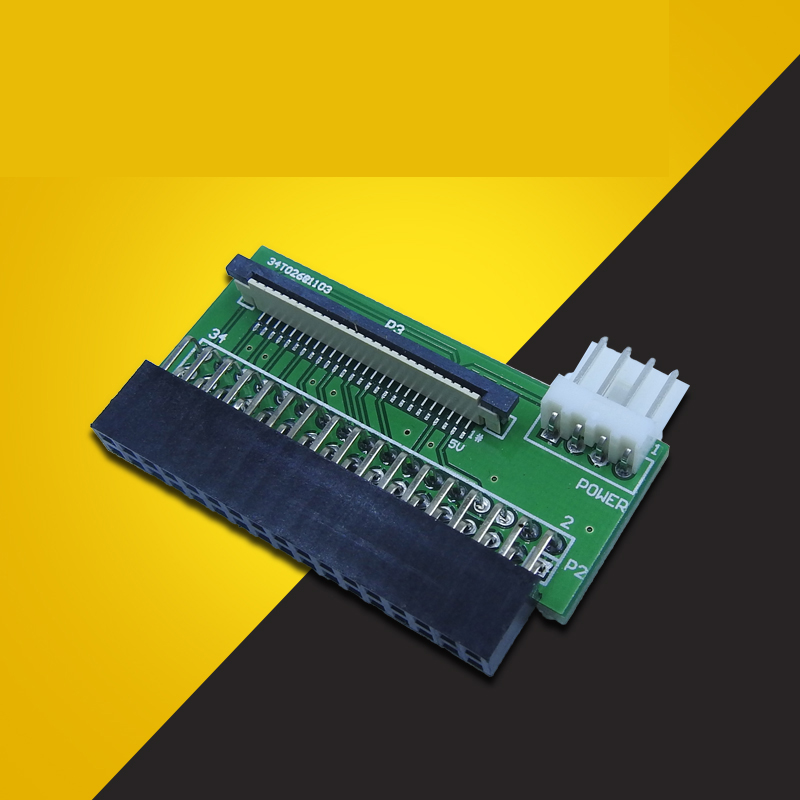 34 Pin Floppy Interface To 26 Pin FFC FPC To PCB Converter Board Adapter 34pin TO 26PIN +4pin Power Cable