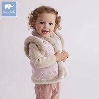 DB5621 dave bella autumn winter infant baby girls fashion coats kids sleeveless vest toddler coat children clothes