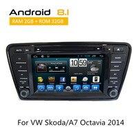 Для VW Skoda/A7 Octavia 2014 с Android Восьмиядерный Системы Поддержка dvd плеер gps WI FI Streering колеса зеркало link цифровой ТВ