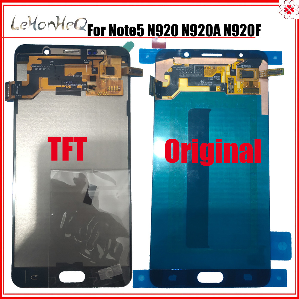 Test <font><b>LCD</b></font> Für samsung <font><b>note</b></font> <font><b>5</b></font> <font><b>LCD</b></font> Display Für samsung Galaxy note5 N920 N920G N920F N920A Display touchscreen Digitizer Montage image