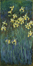 Wall Oil Painting art Yellow Irises by Claude Monet Painting Home Decoration Canvas Painting Reproduction Art Painting Suppliers claude monet japnese bridge painting reproduction wall art painting living room decoration photo to canvas oil painting supplie