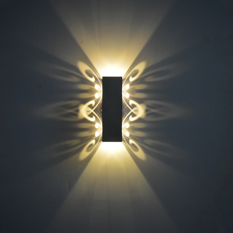 SXZM Alluminio 2 W led light fixture Su e giù lampada da parete a led batteryfly moderna applique da parete moda decorazione dell'interno AC85-265V