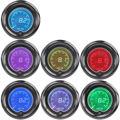 """Apoyo EE 2 """"52mm Azul 7 Color Luz LED Medidor de Voltaje Del Coche Auto Digital Medidor de Voltios de Humo Len XY01"""