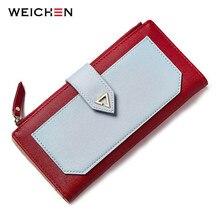 WEICHEN 2017 New Design Geometric Long Clutch Wallets For Women Purse Cards Holder Phone Pocket Carteira Fashion Brand Wallet недорого